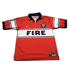 90s VTG NIKE CHICAGO FIRE Soccer Jersey Collared Size S Men Futbol Made Mexico