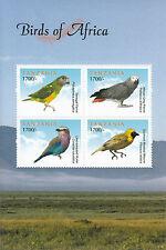 Tanzania 2011 MNH Birds of Africa 4v M/S Senegal Parrot Roller Weaver Grey