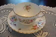 "Mintons England ""Marlow"" pattern Tea Cup & Saucer, beautiful colors & gold[4-*4]"