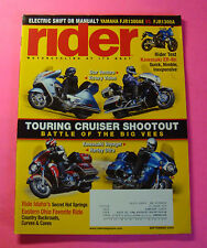 RIDER MAGAZINE SEPT/2009...TOURING CRUISER SHOOTOUT: BATTLE OF THE BIG VEES