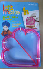 Kitchencraft Heart Shape Kids Lunch Sandwich Cutter. Great Fun For Girls Parties