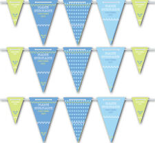Personalised Vintage Style Boys Naming/Birth/Christening Bunting - 3mx15pendants