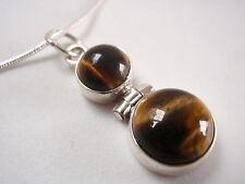 Tiger Eye Dbl-Gem 925 Sterling Silver Necklace India