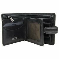 Visconti TSC42 Mens RFID Secure Blocking Leather Bifold Wallet ID  Holder Black