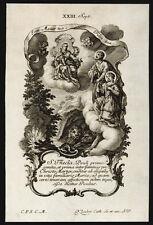 santino incisione1700 S.TECLA V.M.   klauber