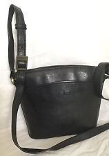 CELLINI Black Buffalo Leather Cross Body/Shoulder Bag / Handbag