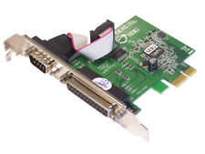 SIIG Cyber 1S1P PCIe Serial/Parallel Adapter - 1X Rs-232, 1X 1284 Parallel