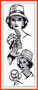 BUCKET Hat BRIMMED with Bow Mail Order 4926 Vintage 1950's Craft Sewing Pattern