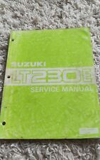 1987 Suzuki Lt230E Lt230 Lt 230E QuadRunner Shop Service Repair Manual Oem