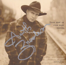 Garth Brooks HAND Signed Photocard, Autograph, Friends In Low Places, Fences