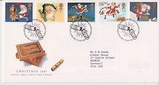 GB Royal Mail FDC primo giorno copertura 1997 christmas cracker TIMBRO SET Betlemme PMK