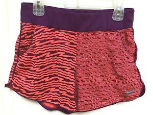 Nike Dri-Fit Red Purple Athletic Fitness Workout Running Shorts Size Large