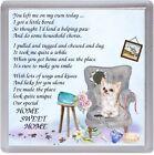 "Chihihua Longcoat Cream Dog Coaster ""HOME SWEET HOME Poem ..."" Gift by Starprint"