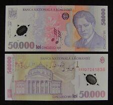 Romania Polymer Plastic Banknote 50.000 Lei 2001 UNC