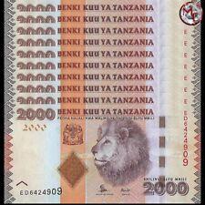 Tanzania - 2000 Shillings 2015 - Pick- 42b - Set 10 PCS - UNC