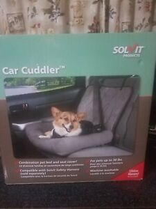 New in box PetSafe Solvit Small Car Cuddler Seat Cover for Pets Grey