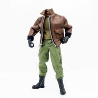 1/6 Scale Uniforms Coveralls Suit Leather Jacket Set Airborne B005 Action Figure