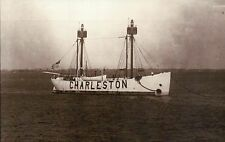 Charleston Station Light Ship, Floating Lighthouse, South Carolina SC - Postcard