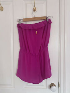 Forever New Pink Fuschia Romper Playsuit Size 8 100% Silk