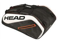 Head Tour Team 12R Monstercombi Tennis Racquet Racket Bag - Black/White- Reg $90