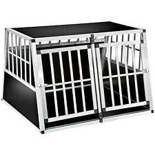 XXL Transportín doble para perros box jaula de transporte aluminio trapezoidal
