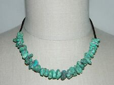 VTG Silver Tone Dead Pawn Turquoise Nugget Shell Necklace 32 grams