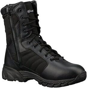 """11011 Smith & Wesson Breach 2.0 Men's Tactical Side-Zip 8"""" Boots Black"""