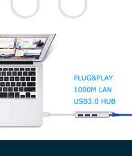 USB 3.0 to Gigabit Ethernet RJ45 LAN 1000Mbps Network Adapter for Mac PC Laptop