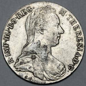 1780 MARIA THERESA AUSTRIA SILVER THALER TALER COIN