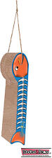 Imperial Cat Scratch n Shapes Hanging Mat Fish on a Line Orange Scratching USA