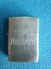 More details for zippo marlboro lighter 1932 - 1991 rare solid brass etched