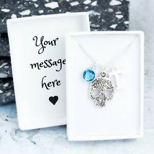 Skull Necklace, Personalised Gift, Sugar Skull Jewellery, Goth Gifts For Her