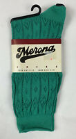 Vintage 90's Merona Womens Socks Slouch Crew Textured Green Shoe Size 4-10
