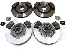 CITROEN DS3 1.6 VTI THP FRONT & REAR BRAKE DISCS & PADS BEARING ABS RINGS 266MM