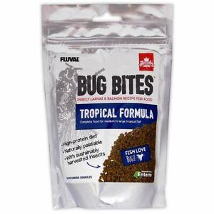 Fluval Bug Bites Tropical (Medium-Large) 125g Tropical Aquarium Fish Food