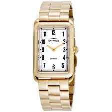 В Shinola Мальдони белый циферблат из нержавеющей стали женские часы 20065295