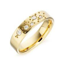 9 Carat Band Yellow Gold SI1 Fine Diamond Rings