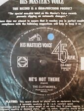 45rpm single - The Cliffmores - He's Not There/Walk Tall (Exc)