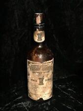 Antique Vino Tonic Bitter Wine Bottle Original Labels Vintage Quack Medicine