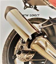 R&G BLACK 'SUPERMOTO STYLE' EXHAUST CAN PROTECTOR  Yamaha YZF-R125 (2014)