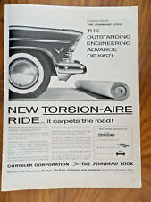 1957 Plymouth Dodge DeSoto Chrysler Imperial Ad  New Torsion-Air Ride