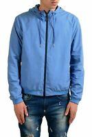 Fendi Men's Blue Full Zip Hooded Reversible Windbreaker US S IT 48