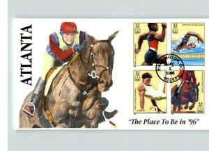 1996 OLYMPIC Summer Games SET of 5 with all 20 stamps! Hand Painted, ea. with 4