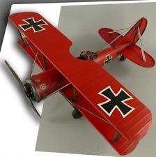 Flugzeug Modell groß Roter Baron Blechmodell Blech Flugzeugmodell Deko NEU