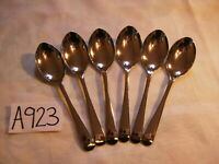 VINTAGE OLD ENGLISH NICKEL SILVER TEASPOONS CUTLERY SET X 6  IN  MINT CONDITION
