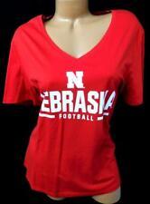 Fanatics red Nebraska football short sleeves v neck women's sports tee top 3XL