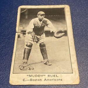 "1922 AMERICAN CARAMEL BOSTON RED SOX BASEBALL ""MUDDY"" RUEL E121~SERIES OF 120~"