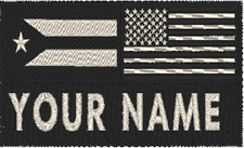 """Personalized Name 5"""" x 3"""" Patch Cuba & USA Flag W/ VELCRO® Brand Fastener #1"""