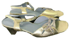 Ladies Van Dal Golden and Silver Leather Sandals