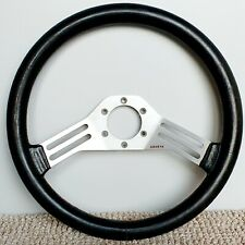 ABARTH Leather steering wheel Authentic LANCIA FIAT OEM made in Italy JDM 350mm